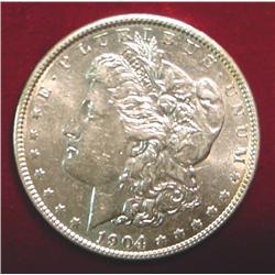 1904 P U.S. Morgan Silver Dollar. AU