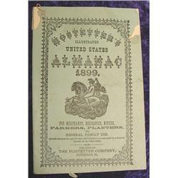 1899 Hostetter's Almanac. Illustrated.