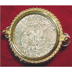 1974 D Eisenhower Dollar U.S. Belt Buckle