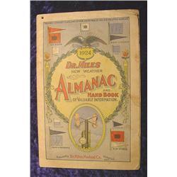 1924 Dr. Miles New Weather Almanac