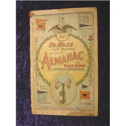 1913  Dr. Miles New Weather Almanac