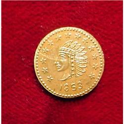 1853 California 1/2 Gold Token. BU.