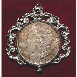 1921 D Morgan Silver Dollar in Necklace