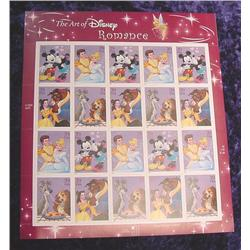 "Mint Sheet ""The Art of Disney"" .39 U.S.A."
