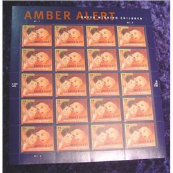 "Mint Sheet ""Amber Alert Saves Missing.."