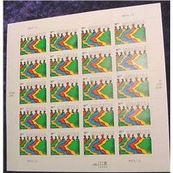 """Mint Sheet U.S. .39c Stamps """"Kwanza"""""""