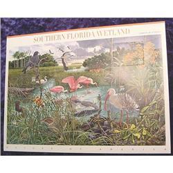 "Mint Sheet U.S. ""Southern Florida Wetlands"