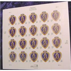 """Mint Sheet U.S. """"Purple Heart The Medal"""