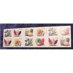 "Mint Sheet U.S. ""Crops of the Americas"""