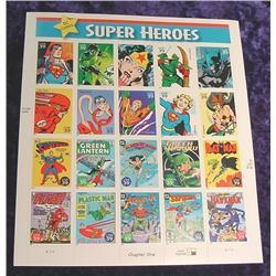 """Mint Sheet U.S. .39c Stamps """"DC Comics"""