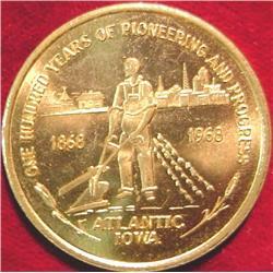 1868-1968 Atlantic, Iowa Cenetennial Medal
