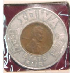 1846-1946 Iowa State Fair Encased Cent