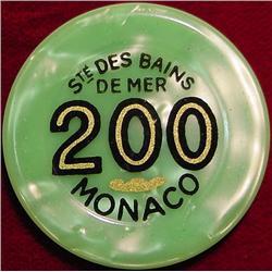 $200 Gambling Chip Ste. Des Bains Demer