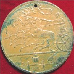 Italian Medal with horse drawn Chariot.