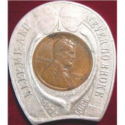 1909 Encased Cent Souvenir of Washington