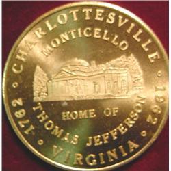 1762-1962 Charlottesville, Va. Good For .50c
