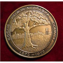 1882-1972 Albion, Neb. Centennial Medal.