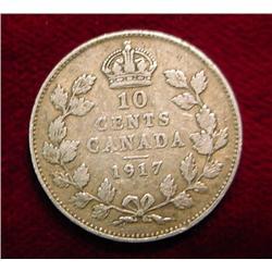 1917 Canada Dime. VG.