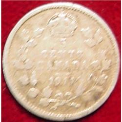 1911 Canada Five Cent Silver. G-4.