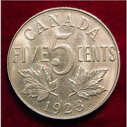 1923 Canada Nickel. VF