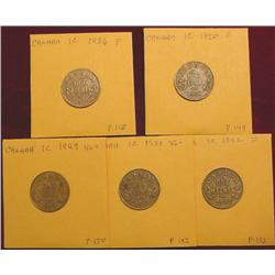 1926, 28, 29, 31, & 32 Canada Cents. VG