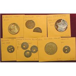 Herbert Hoover Medal (holed); (2) Cents