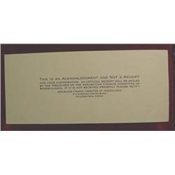 Dewey-Warren Dollar Certificate Fund