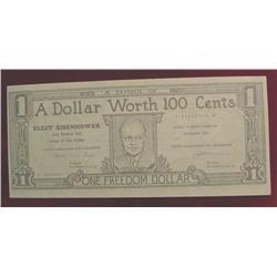 "1952 ""South Carolina"" Eisenhower Dollar"
