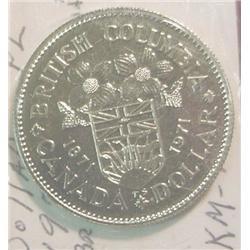 "1871-1971 Canada ""British Columbia"" Dollar"
