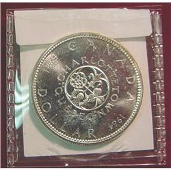"1964 Canada ""Charlottetown"" Silver Dollar"
