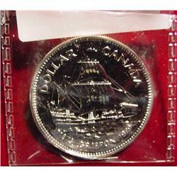 """1679-1979 Canada """"Griffon"""" Silver Dollar"""
