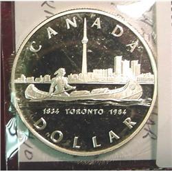 "1834-1984 Canada ""Toronto"" Silver Dollar"