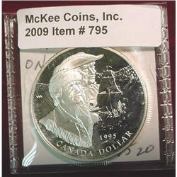 "1995 Canada ""Hudson Bay"" Silver Dollar."