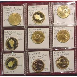 """Collection of Canada """"Loon"""" Dollars. Proof"""