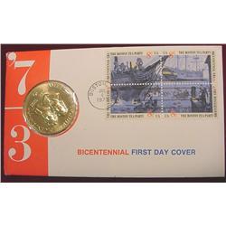 1973 Biecentennial Medal & Cover.