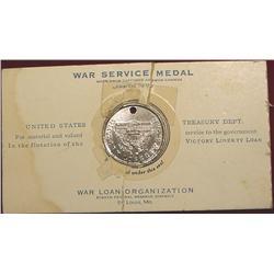 WWI War Service Medal.