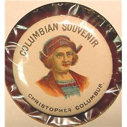 Columbia Souvenir Pinback.