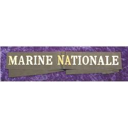 Marine Nationale Hatband or Armband.
