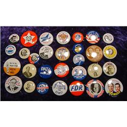 Full Set of 29 Shell Oil Political Buttons