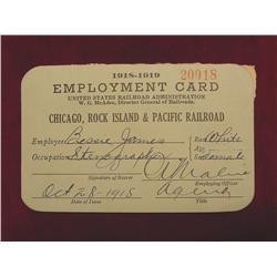 1918-19 Rock Island & Pacific RR. Card