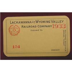 1933 Lackawanna & Wyoming Valley RR.