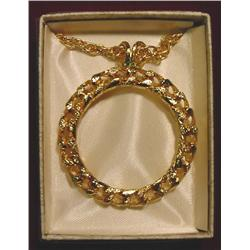 Gold Filled Bezel & Chain For Dollar