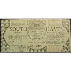 1933 Depression Script, South Haven, Mi