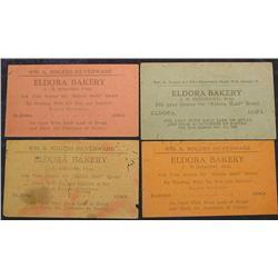 (4) 1935 Depression Script, Eldora Bakery