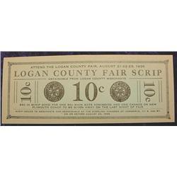 1935 Logan County Fair Colorado Script.