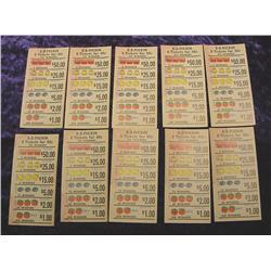 (10) E=Z-Pickin Lottery Tickets. Unused.