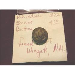 1872 US Indian Wars Service Button