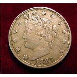 1883 No-Cents Liberty Nickel. VF.