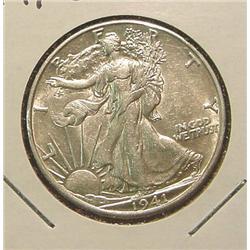 1941D Walking Liberty Half Dollar. AU.