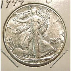 1944D Walking Liberty Half Dollar. AU.